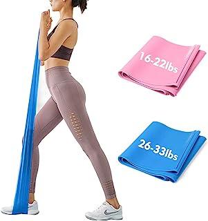 iMoebel Theraband gymnastikband träningsband – 2 styrkor 8–10 kg/12–15 kg premium extra lång 1,5/1,8 meter träningsband mo...