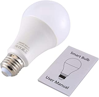 Q9W Smart WiFi Light Bulb RGB Magic Light Bulb Lamp Wake-Up Lights Remote Control for Alexa/Google Home Assistant APP