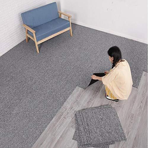 uyoyous Moqueta de fieltro punzonado, 50 x 50 cm, 28 azulejos = 7 m², autoadhesiva, fieltro punzonado, para oficina, comercio, color gris claro
