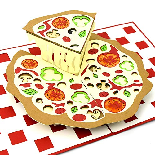 3D Pop Up Karte Pizza z.B. als Gutschein