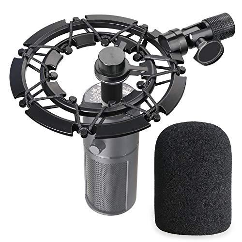 Razer Seiren X Suspension Antichoc en Alliage avec Bonnette Mousse en Noir Réduisant la Vibration pour Microphone Razer X par YOUSHARES