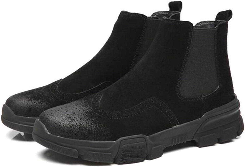 Y -H Mans Casual skor, skor, skor, Fall Winter Comfort Klättrande skor, utomhus Hiking skor Combat stövlar (Färg  Svart, Storlek  42)  otroliga rabatter
