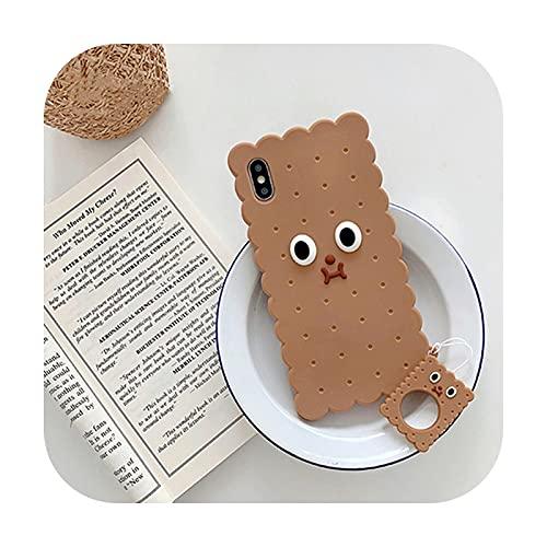Funda de teléfono con forma de tostada 3D para iPhone 12Pro MAX Case 11Pro XS MAX XR X 7 8 Plus divertida mantequilla tostada pan suave silicona cubierta estilo 3-para iPhone 8 Plus