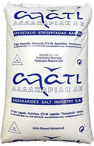 Poolsalz FEIN 25kg naturreines Meersalz ohne ZUSÄTZE (Chlorinator geeignet) aus dem ionischen Meer; Salzhändler seit 1855