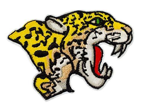 Miniblings Parche termoadhesivo, diseño de cabeza de leopardo de 80 x 55 mm, para planchar, para niños