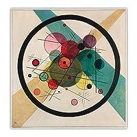 ワシリーカンディンスキー《バービカン》抽象キャンバスアート油絵アートワークポスター画像背景壁の装飾家の装飾30x30cm(12x12in)フレームなし