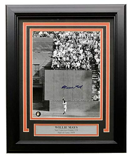 Willie Mays Signed Framed San Francisco 8x10 The Catch Photo Say Hey Holo