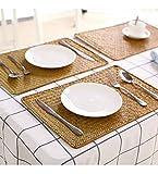 6er Set, Rechteckige Tischsets aus Natürliche Seegras, 43 x 30 cm, Rattan Gewebte Platzsets für den Esstisch - 7