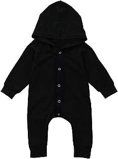 GRNSHTS Baby Boys Girls Romper Snap Long Leeve Hooded Jumpsuit