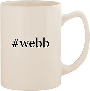 #webb - White Hashtag 14oz Ceramic Statesman Coffee Mug Cup