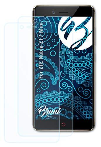 Bruni Schutzfolie kompatibel mit ZTE Nubia Z17 Mini Folie, glasklare Bildschirmschutzfolie (2X)