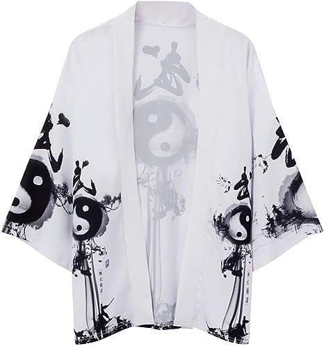 FLY FLU Haori Cloak Abrigo , Kimono Japonés Cardigan Hombres ...