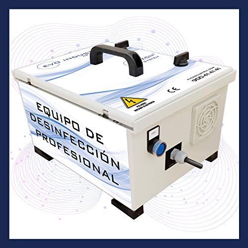 Generador de Ozono Portátil Profesional Industrial | 7.000 MG/h | Fabricado en España | Purificador de Aire - Desinfectante | EVOZON 3 System | Salas, Oficinas, Coches - Eliminación de Olores