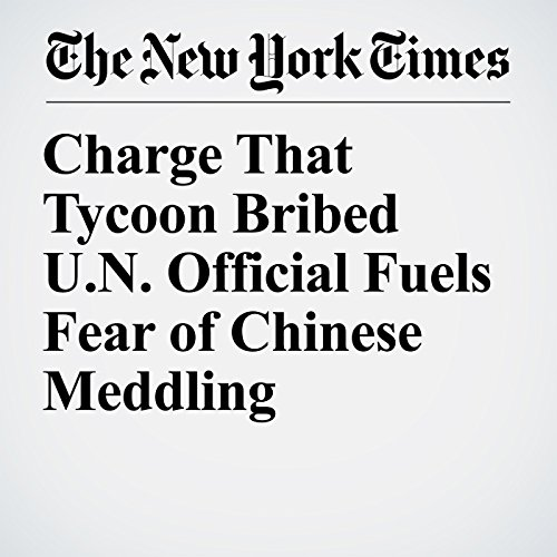 Charge That Tycoon Bribed U.N. Official Fuels Fear of Chinese Meddling copertina