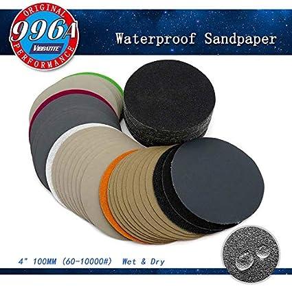 "1/"" 25mm Hook /&Loop Abrasive Sanding Discs Wet /&Dry Round Sandpaper 60-10000 Grit"