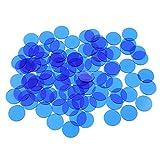 SDENSHI 500pcs Clair Couleur Jetons Bingo en Plastique 3/4 Pouce Accessoires pour Tables de Jeux - Bleu, comme décrit