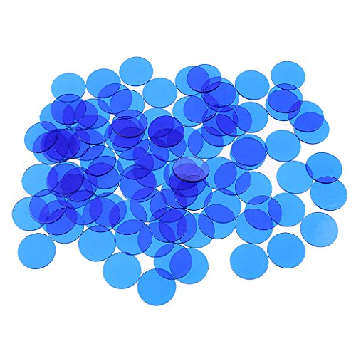 Injoyo 300x PRO Count Bingo Chips Marker Für Party Club Fun Bingo Spielkarten Teile - Blau