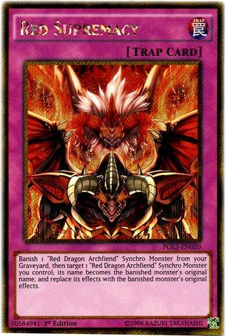 Yu-Gi-Oh! - Red Supremacy (PGL3-EN020) - Premium Gold: Infinite Gold - 1st Edition - Gold Secret Rare