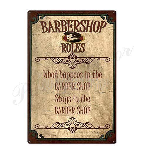 ivAZW Metal Poster Tin Sign Plaque Nostalgic-Art Barber Retro Barber Shop Signs Wall Decor Iron Painting Metal Wall Art Barber 20X30Cm Th2263