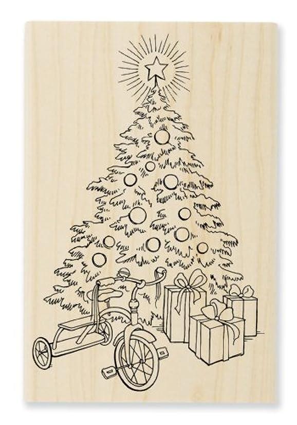 STAMPENDOUS, Wood Handle Stamp, Tricycle Tree