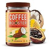 Keto Coffee Creamer - Organic Coconut Oil - Keto Creamer For Coffee - Ghee Butter Organic Grass Fed - Raw Cacao Powder Organic - Original High Fat Coffee Creamer - Mocha 15 Oz - COFFEE BOOSTER