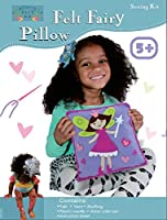 Sew and Stuffキット。Fairy Pillow Ideal子供クラフトキットには、すべてのSupplies。Funアクティビティ。Ages 5–12。All Inclusive Arts and Crafts、フェアリープリンセスW /鮮やかな色Ideal Rainy Dayアクティビティ