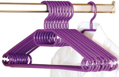 Kesper 16811 Kunststoff-Kleiderbügel, 10-er Pack, Breite: 40 cm, lila