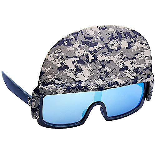 Sun-Staches Licensed U.S. Army Helmet U.S. Army Helmet Sunglasses for Kids 3+ with UV Protection, One Size Fits All - U.S. Army Helmet Kids Sunglasses: Use for Party Props & Favors Green