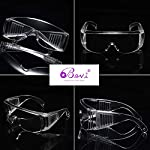 Bevi Goggle Safety Glasses Anti-Fog Protective Safety Eye Shield for Droplet Infection Chemistry Construction Sites Daily Entertainment Protective Eyewear