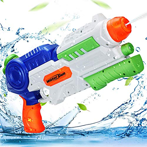 Ucradle Pistola ad Acqua 1200ML Squirt Gun per Bambini e Adulti Gamma di 8-10 Metri Giocattoli Fucile ad Acqua Potente per Feste All'aperto Piscina Estiva sulla Spiaggia
