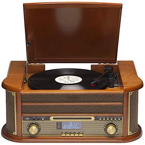 Muziek Center platenspeler met CD-speler, platenspeler, platenspeler, cassette, MP3 USB en AUX in smartphone en tablet