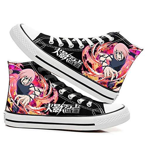 SevenLeo Zapatos Hombre Zapatillas Lona Zapatos Casuales Zapatos Mujer Bambas Zapatos De Niño Niña Adolescente Zapatillas Deporte Mujer Unisex Naruto Anime Shoes 42