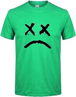 Mens Short Sleeve Cotton T-Shirt Spring Summer Casual Fashion Printing O-Neck Tops