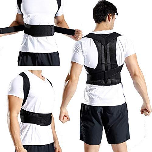 Haltungskorrektur Upgrade-Schulter-Lendenwirbel Korrektur Adjustable Männer und Frauen Vollrückenstütze Schmerzen lindern Buckel Unisex,XXXL
