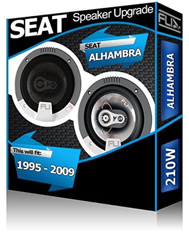 FLI Porte arrière Seat Alhambra Orateurs Audio Haut-Parleur de Voiture Kit de 210 W