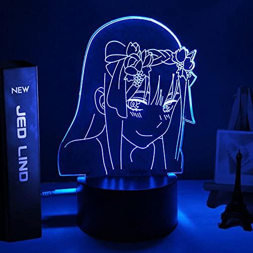 Anime Lights 3d Led, Anime Zero Two 3d Lámpara Figura Luz nocturna Niños Niño Niñas Manga Regalo Lámpara de luz nocturna, Darling In The Franxx Luces LED nocturnas