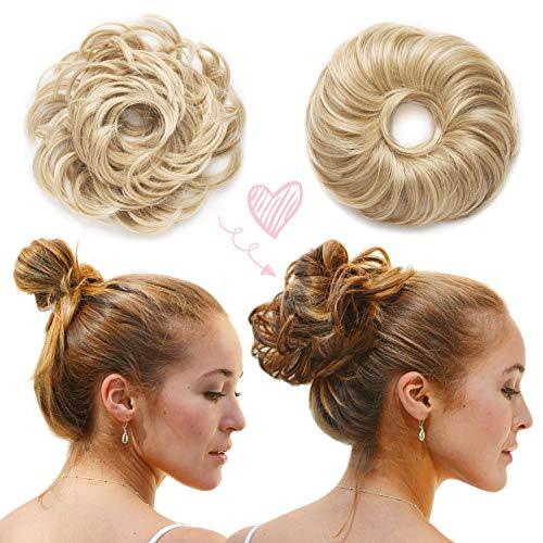 La Viora Haarteil Haargummi Hochsteckfrisuren Dutt mit extra viel Haar (45g), Dutt Haarteil mit Gummiband für festen Halt, vegan und dermatologisch getestet, fruchtig duftende Bun Haarverlängerung