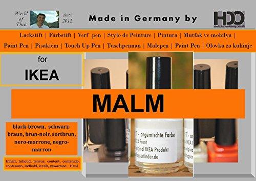 HDO Touch Up Pen Stylo de retouche pour peinture IKEA Malm Noir/marron