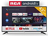 RCA RS43F2 Android TV (43 pollici Full HD Smart TV con Google Assistant), Chromecast integrato, HDMI+USB, Triple Tuner, 60Hz