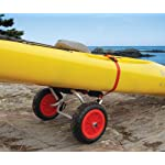 """Malone Nomad Standard Universal Kayak Cart 7 Aluminum frame ideal for kayaks Includes airless """"Never-Go-Flat"""" removable 10"""" tires Oversized padded frame protects boat and includes stabilizing locking kickstand"""
