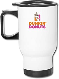Dunkin Donuts 15oz Double Wall Stainless Steel Vacuum Insulated Travel Mug Coffee Cup with Splash-Proof Lid