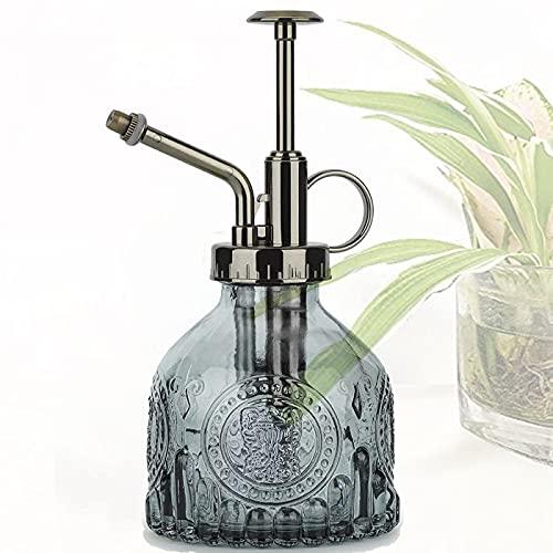 Regadera de Vidrio,Regadera Transparente,Botella De Spray para Plantas,para Regar Plantas pequeñas Dentro del hogar u Oficina Botella de Spray de riego de Vidrio,200ML