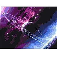 番号による油絵空番号によるDIY写真風景キットキャンバスに描く手描きの絵画家の装飾(フレームレス)40x50cm