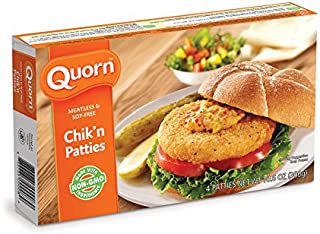 Quorn Meatless and Soy-Free Chik'n Patties, 10.6 Ounce (Pack of 12)