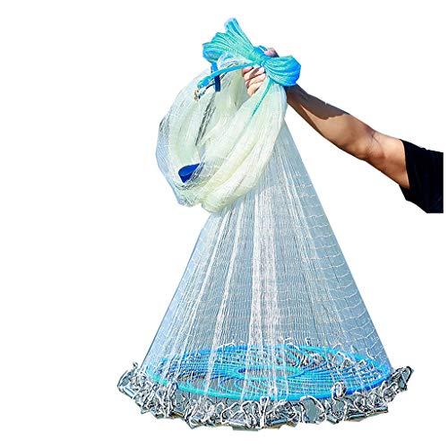 ChenCheng Nets, Stahl Tropfen Flying Disc-Typ Cast Net Disc Wurf Net Fang Fang Fischen Fischen Easy Net Werfen /@ (Color : 1 Finger, Size : 6.5m)