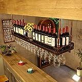 AERVEAL Estante de Vino Titular de la Botella para Estantes de Vino Estante de Vino Colgando Del Vino To Titular de la Taza de Vino Colgando Al Revés de la Casa de la Barra Del Vino Del Estante Del T