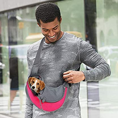 VaygWay dog Sling Carrier- Mesh Traveling Cat Carrier Pouch - Pet Sling Dog Carrier - Puppy Sling 6