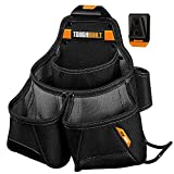 ToughBuilt - Framer Tool Pouch - Multi-Pocket Organizer, Heavy Duty, Deluxe Premium Quality, Durable - 9 Pockets, Hammer Loop (Patented ClipTech Hub & Work Belts) - (TB-CT-02)