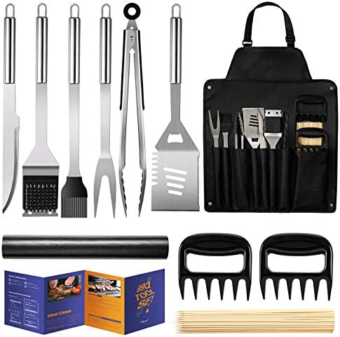 Veken BBQ Grill Accessories Stainless Steel BBQ Tools Set for Men Women Grilling Utensils Accessories product image