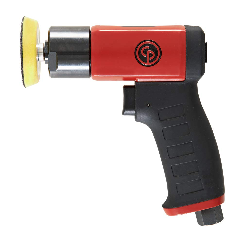 Chicago Pneumatic CP7201 Mini Polisher Hand Tool with Two Finger Progressive Throttle Polishers and Buffers